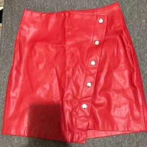 Bershka Red Skirt